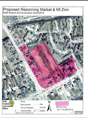 This is the latest proposal from township staff for rezoning the northeast corner of East Market Street and Mount Rose Avenue.