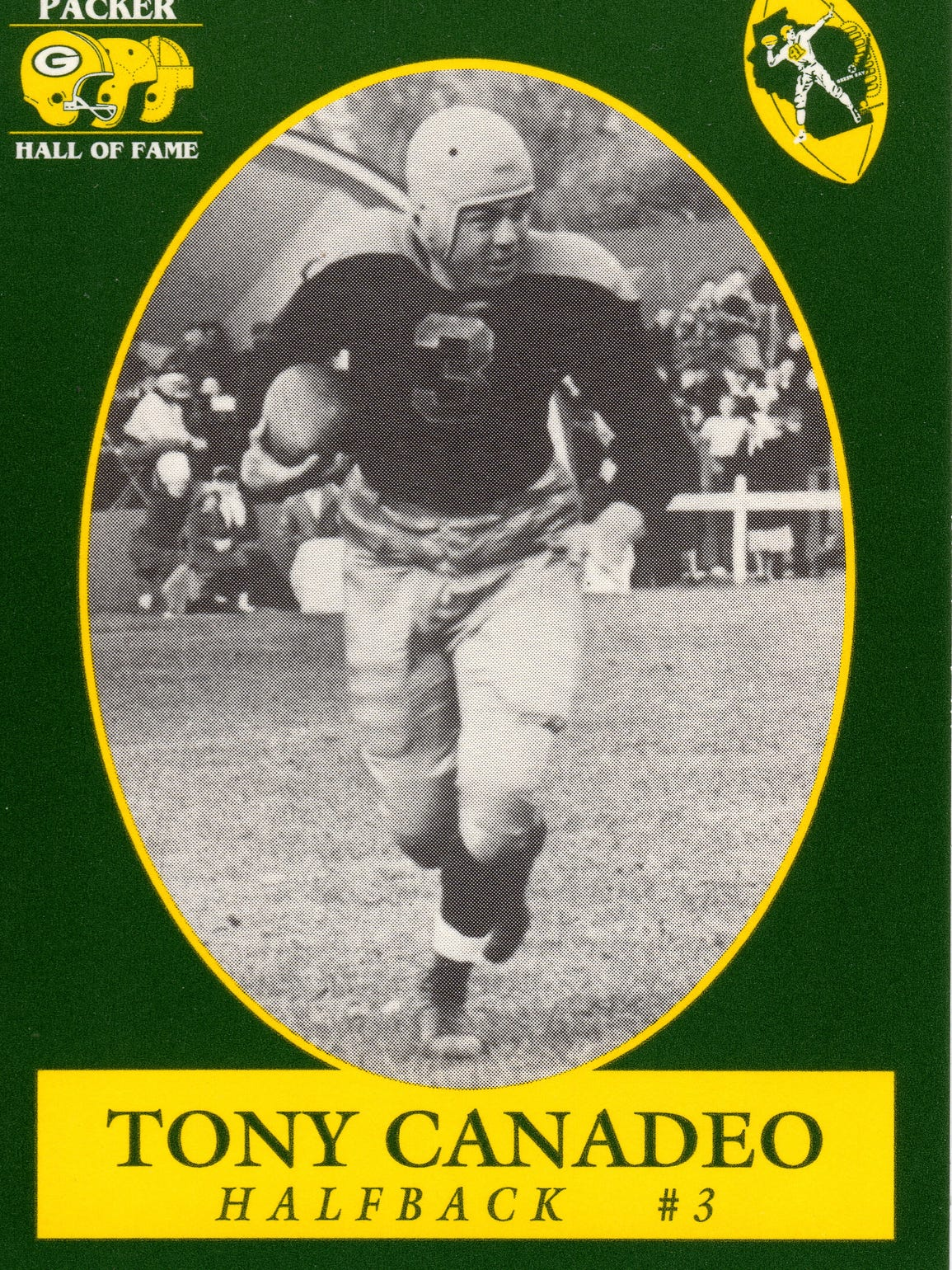 Green Bay Packers Hall of Fame player Tony Canadeo played at Gonzaga before the West Coast school discontinued football after World War II.