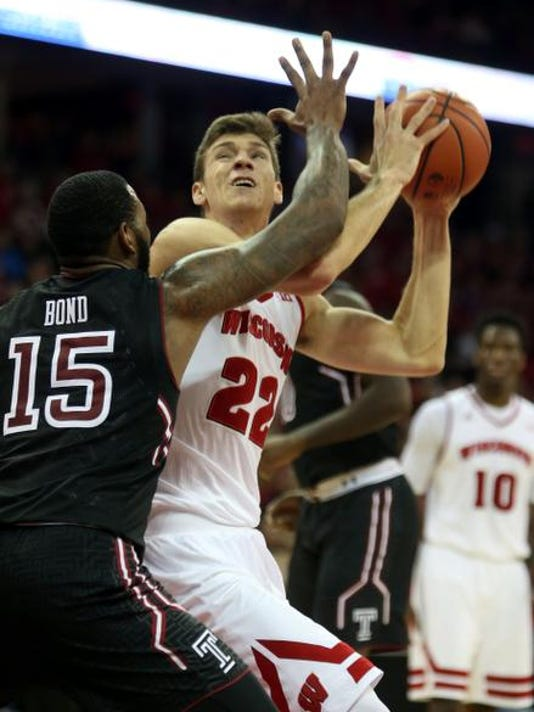 NCAA Basketball: Temple at Wisconsin