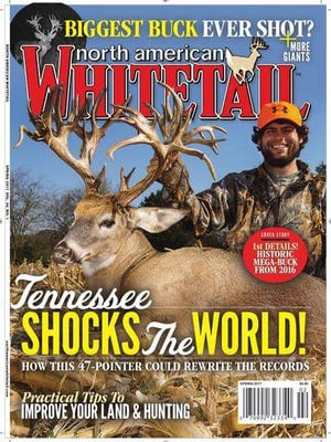 Gallatin resident Stephen Tucker will be featured on the cover of North American Whitetail magazine with the world record 47-point buck he killed in November.