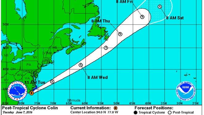 Colin 11 a.m. update
