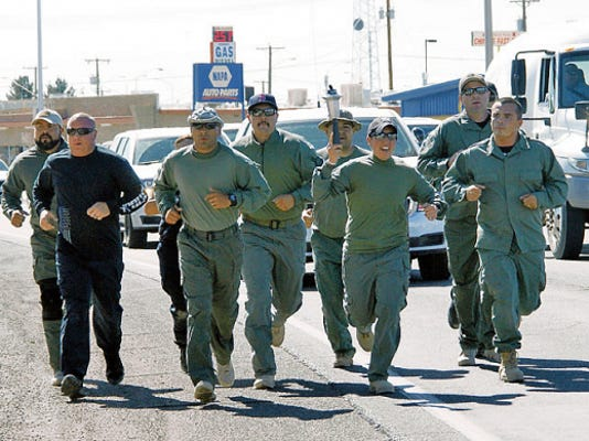 Members of the Deming Luna Law enforcement were privileged to carry the Special Olympic Torch through Deming streets on its way to the State Games hosted by Albuquerque.