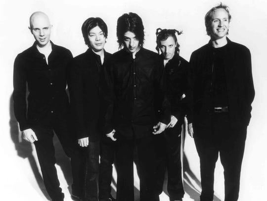 E-mail handout photo of band A Perfect Circle from