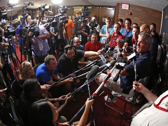 Pro Football Hall of Fame 2016 inductee Brett Favre,