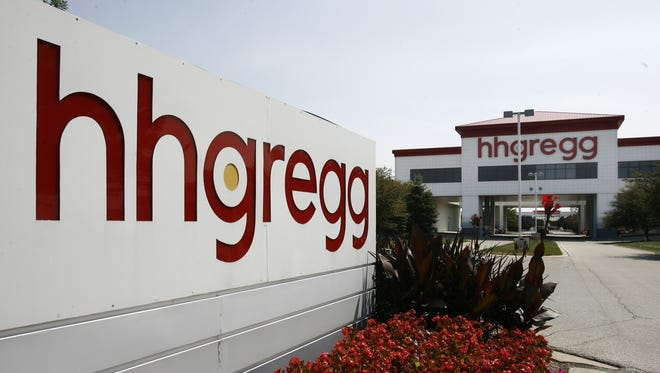 Exterior of an HHGregg store at 151 E.96th St. in Indianapolis.