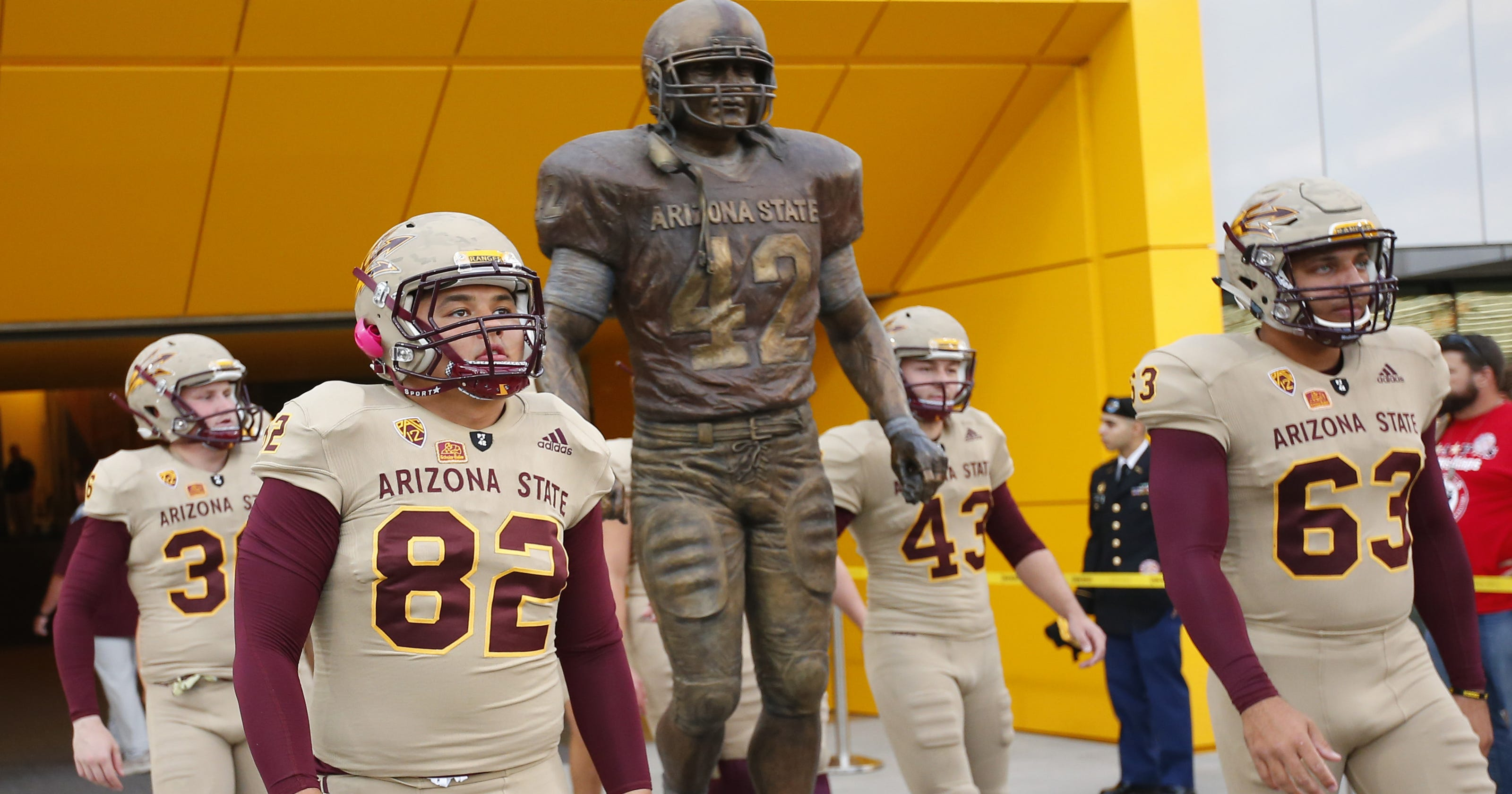 timeless design b4675 73419 ASU football honoring U.S. military, Pat Tillman with ...