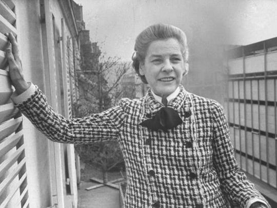 Author Mary McCarthy is shown at her Paris apartment