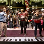 "Seth Rogen, Anthony Mackie and Joseph Gordon-Levitt in ""The Night Before."""