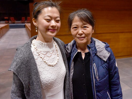 "Wenhui ""Sherry"" Dou and her mother, Ping Lu Feb. 20,"