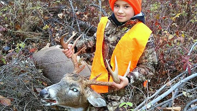 Joey Morales, 11, of Pine City, tagged this big 10-point buck during Pennsylvania's rifle season.