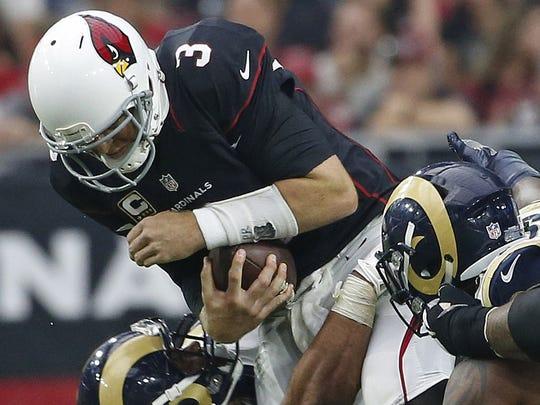 Rams defensive tackle Aaron Donald sacks Cardinals