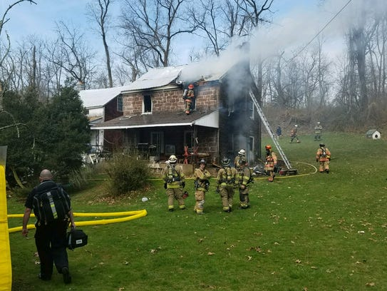 Two people were displaced when fire caused extensive