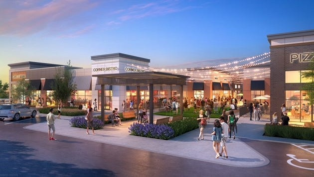 A rendering of the retail area at One Bellevue Place