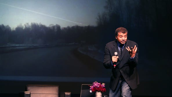 Astrophysicist Neil deGrasse Tyson, speaks at the University