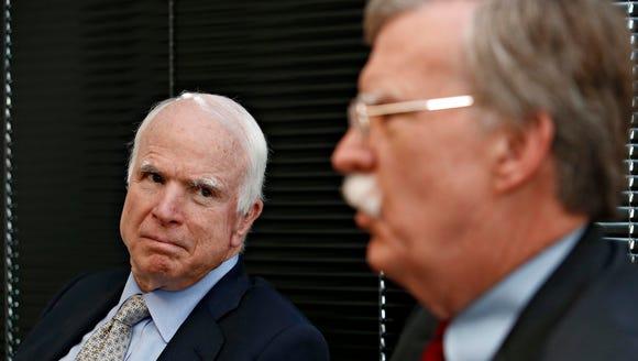 Sen. John McCain, R-Ariz. (left) on Jan. 8, 2016 held