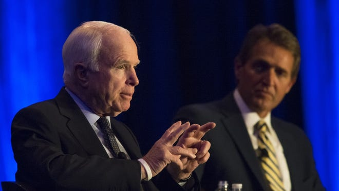 Arizona's U.S. Sens. John McCain and Jeff Flake, along with most of Arizona's congressional delegation, have weighed in on President Donald Trump's controversial travel ban that affects people from seven predominantly Muslim countries over terrorism concerns.