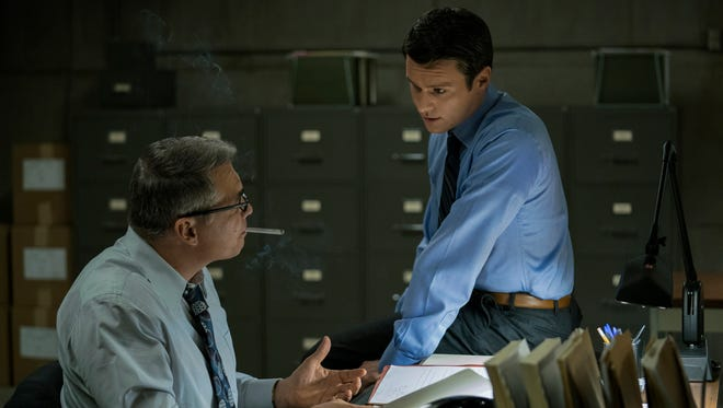 Left: Bill Tench (Holt McCallany) and Holden Ford (Jonathan Groff) in Netflix's 'Mindhunter'