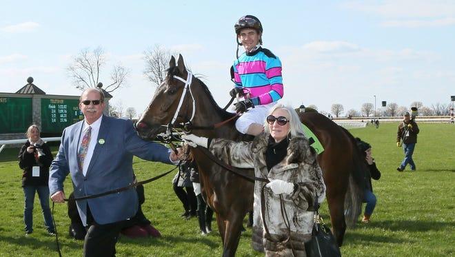 Finley'sluckycharm won Saturday's Madison Stakes at Keeneland.