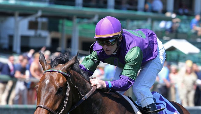 Jockey James Graham, aboard Smart Emma in May 2018. Graham will ride Lone Sailor in the 2018 Kentucky Derby.