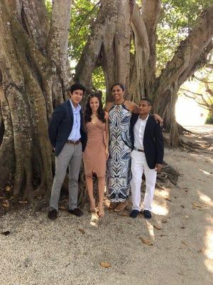 The Fritz family: Noah (left), Naomi, Hannah and Mac.