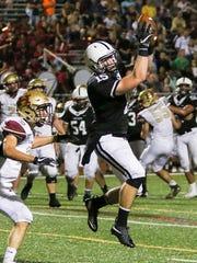 Bridgewater-Raritan's Brandon Myers catches a pass