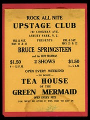 A show poster from the Upstage Club in Asbury Park, circa 1971.