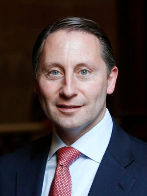 In this Jan. 22, 2014, file photo, Westchester County Executive Rob Astorino poses at the state Capitol in Albany