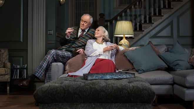 "John Lithgow and Glenn Close in ""A Delicate Balance."""