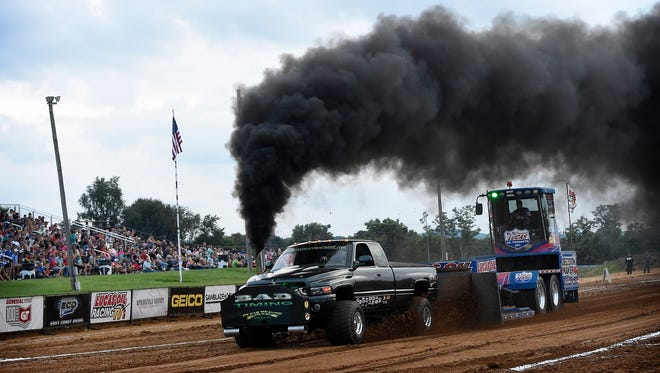 The Lebanon Area Fair may be over, but the annual truck and tractor pull is still to come thanks to inclement weather.