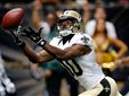 BILL HABER -- THE ASSOCIATED PRESS  New Orleans Saints wide receiver Brandin Cooks should be one of the top options to replace the production of Darren Sproles, who was traded to the Eagles.