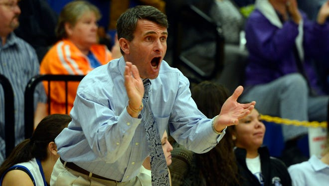 Smoky Mountain girls basketball coach Eric Toedtman.