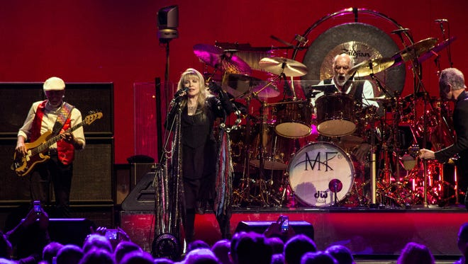 Stevie Nicks takes lead vocals during the Fleetwood Mac concert at the KFC YUM! Center on Tuesday night. 2/17/15 Marty Pearl/Special to The C-J