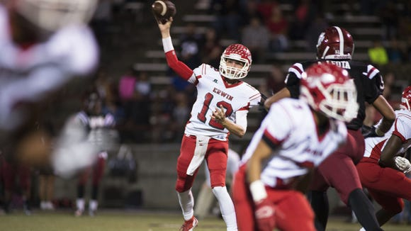 Erwin junior Damien Ferguson has already thrown for more than 5,500 career yards.