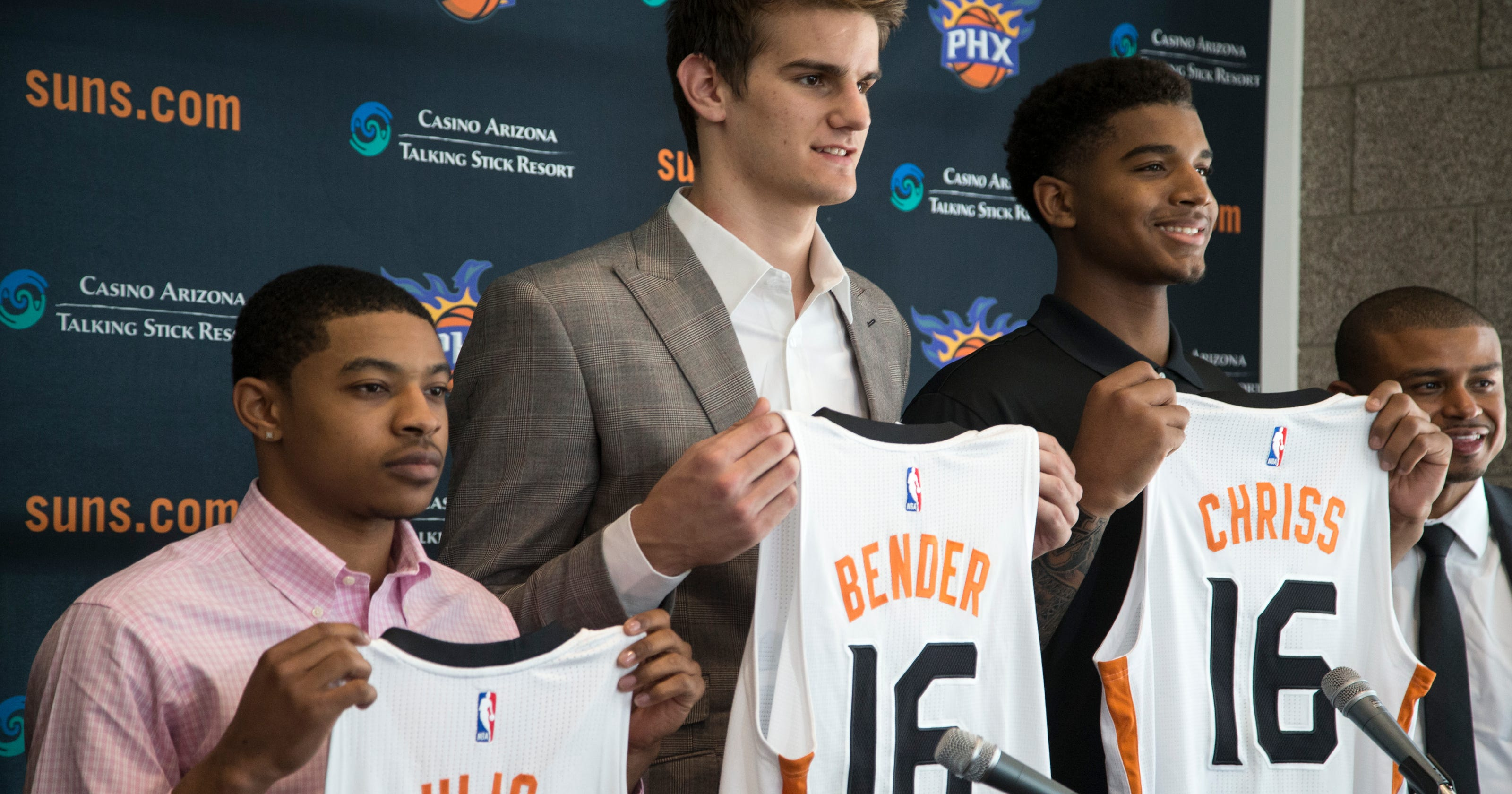 84370533102 Phoenix Suns introduce 2016 draft picks Dragan Bender