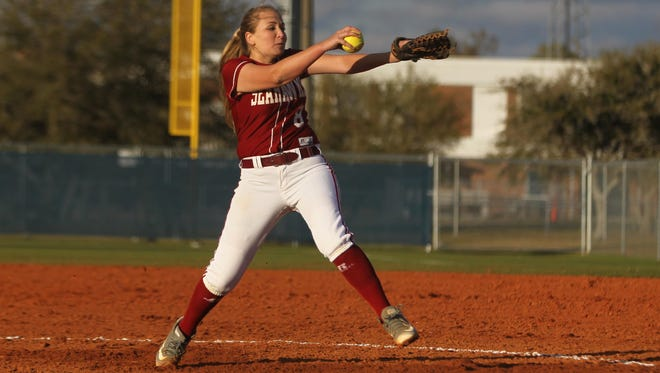 Franklin County's Megan Collins pitches against Wakulla on Tuesday.