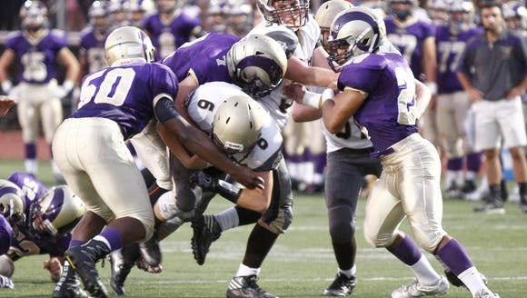 Clarkstown South defeats Clarkstown North 14-13 in