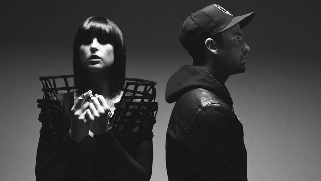 Sarah Barthel, left, and Josh Carter of indie pop's Phantogram.