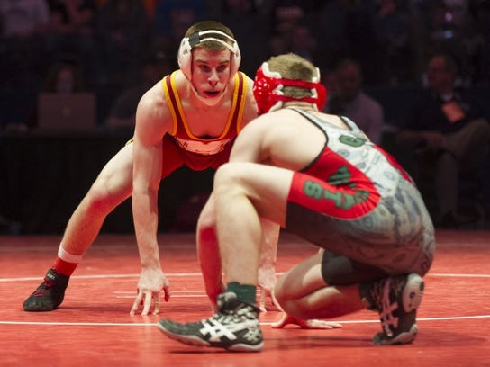 Mater Dei's Joe Lee went 36-0 in route to a state title at 152 pounds.