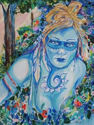 Dharma Lefevre's portrait of Nancy Loughlin's warrior self.