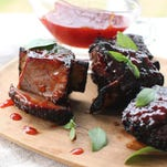 Orange barbecue beef short ribs are perfect for your cookout.