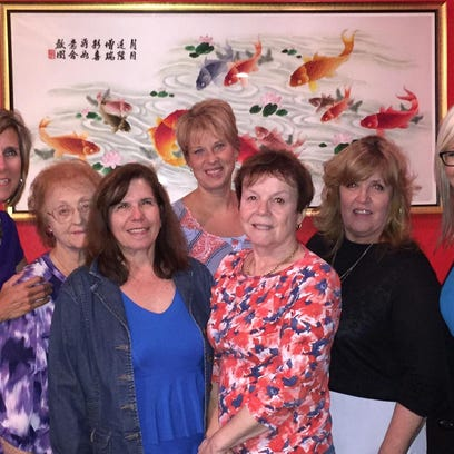 Golf outing chair Barb Johnson, vice president Brenda Sparks, Julie King, president Tracy Kiradjieff, secretary Karen Keenan, assistant treasurer Marty Uttley and treasurer Tamara Johnson.