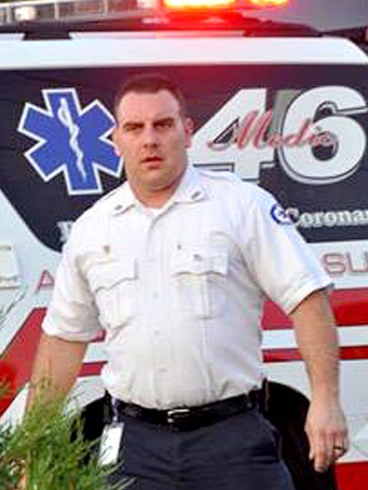 Michael Golden Jr. served 11 years as a firefighter and paramedic with the Anne Arundel County Fire Department. He was killed in a vehicle crash Wednesday in York County while off duty.