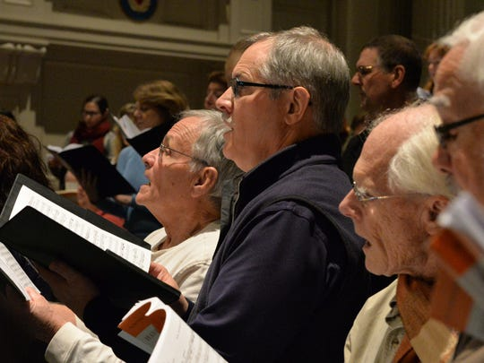 "The Lebanon County Choral Society's rehearsal for the society's holiday concert ""Handel's Messiah"" at Friedens Lutheran Church, Myerstown on November 30, 2015."