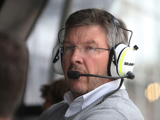 FILE - In this file photo dated Friday, Oct. 16, 2009, team principal Ross Brawn during a free practice for the Brazil's F1 Grand Prix at the Interlagos race track in Sao Paulo. Formula One's new chief executive Chase Carey has announced Ross Brawn as motor sport managing director, Monday Jan. 23, 2017, after Liberty Media officially completed its takeover of the F1 series. (AP Photo/Andre Penner, FILE)