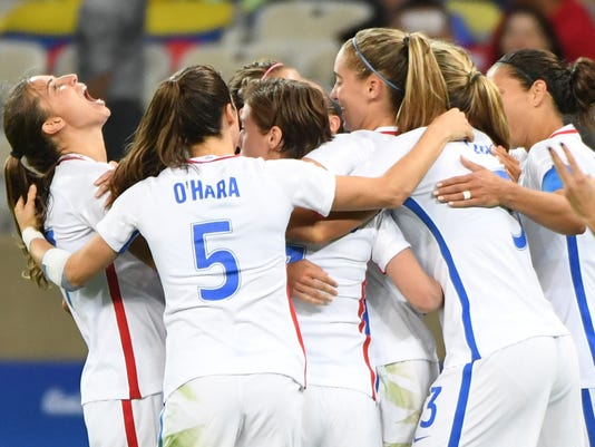 Olympics: Football-Women's Team-1st Round Group G-United States (USA) vs New Zealand (NZL)