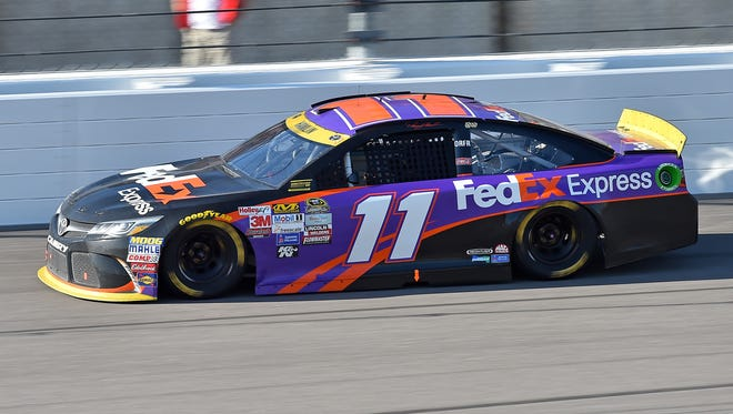 Hamlin finished second at the Hollywood Casino 400 in Kansas City.