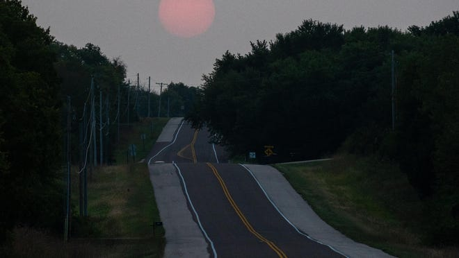 The smoky haze created by wildfires burning in the northwestern part of the United States has caused hazy skies and poor air quality in Topeka.
