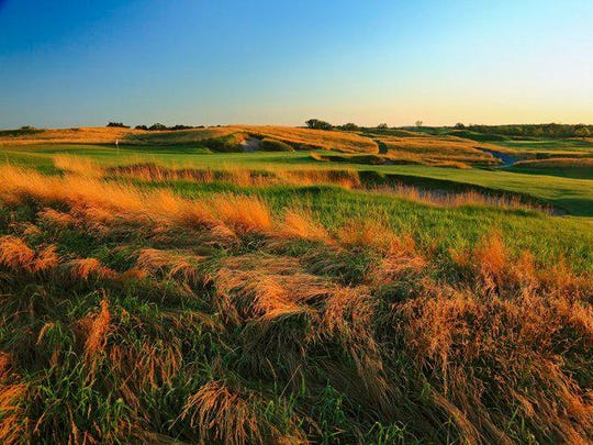 The 11th hole of Erin Hills golf course, host of the 2017 U.S. Open, the first on Wisconsin soil.