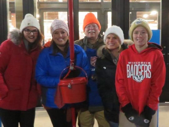 Ringing the Salvation Army Christmas bell is just another