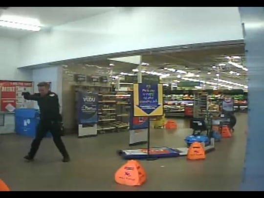 Surveillance video from a Chandler Walmart shows Chandler